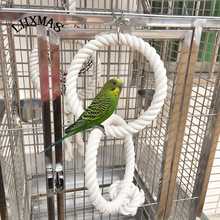 Big Parrot Toy Bird Cage Toy Parrot Swing Ring Toy White Color Bird Supplies T006(China)