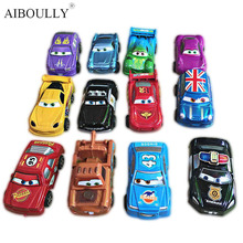 12Pcs/set Pixar Cars 2 Diecast PVC Action Figure Modle 6cm Pull Back Mini Scale Cute Toys For Kid Gifts