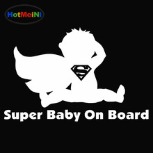 HotMeiNi Superman Super Baby on Board Funny Car Sticker Stroller Window Bumper Kayak Hand Carving Die Cut Vinyl Decal 9 Colors(China)