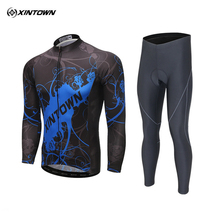 Buy XINTOWN Pro Team Cycling Jersey Mens Sports Long Sleeve Ropa Ciclismo Bib Pants Set Bike Clothing MTB Cycling Wear S-4XL for $36.29 in AliExpress store