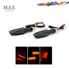 Motorcycle LED Turn Signal Indicators Lights  for  MOTO GUZZI Stelvio 1200 4V 2008 2009 2010 2011 2012 2013 2014 BLACK