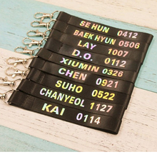 ALLKPOPER KPOP EXO Mobile Phone Strap Chanyeol Laser Baekhyun Cellphone Strap Sehun(China)