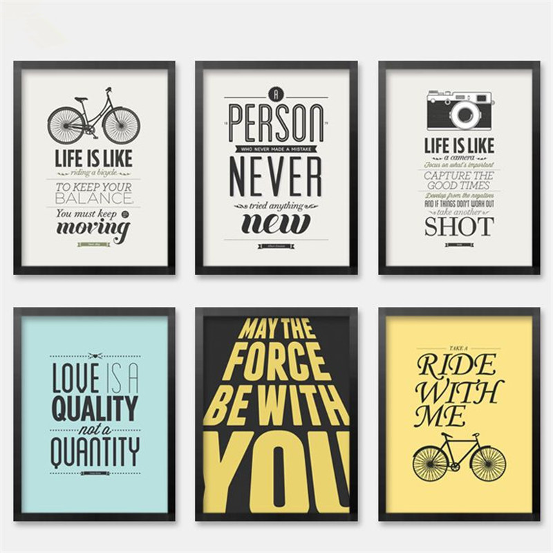 Framed posters for office