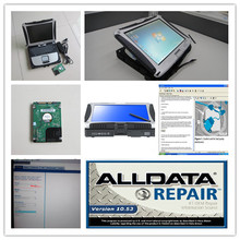 professional car diagnostic software alldata 10.53 and mitchell ondemand with cf19 laptop touch screen 1tb hdd win7