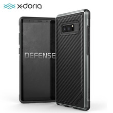 X-doria Defense Lux Case for Samsung Galaxy Note 8 Military Grade Drop Tested, TPU & Aluminum Premium Protective Cover(China)