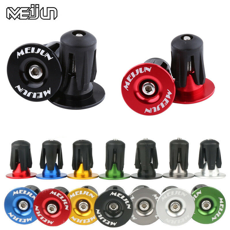 MEROCA End Plugs Lock-on Aluminum Alloy For 22~24mm Handlebar Grips End 7 Colors