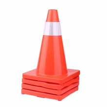 4pcs/set Multipurpose 18 Inch PVC Road Cone Traffic Training Reflective Safety Cones Road Warning Safety Sign(China)