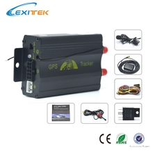 Car GPS Tracker GPS/GSM/GPRS Tracking Device Remote Control Auto Vehicle TK103B Siren Shock Sensor Optional