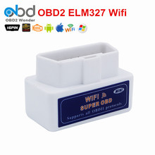 Newly Super OBD2 ELM 327 Code Reader Wireless Wifi ELM327 V1.5 Scantool Auto Scanner Support All OBDII Works iOS/Android/PC(China)