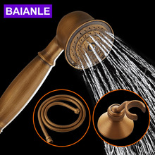 Newly Antique Free Shipping Handheld Shower Head Solid Brass Chrome Finished Telephone Shape Water Saving Hand Shower Sprayer(China)