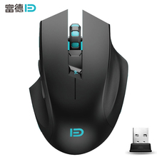 FD i720 Silent 2.4G Wireless Gaming Mouse for Mac PC microsoft Computer mouse gamer & ergonomic 6D 2400dpi mice with gift box(China)