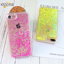 KISSCASE Bling Quicksand Cute Girl Phone Case for iPhone 7 6 6s 7 Plus Quick Sand Woman Case for iPhone 5s 5 SE 4s Cover Capa(China)