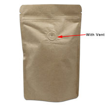 30Pcs/Lot Zip Lock Stand Up Kraft Paper Pure Aluminum Foil Package Bag Coffee Beans Food Storage Bags With Air Evacuation Valve(China)