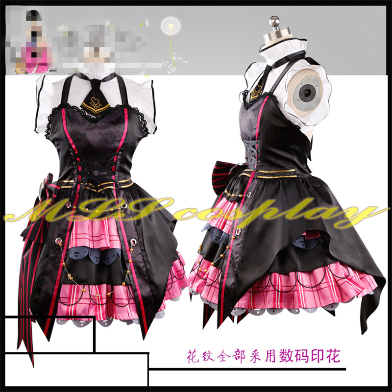 Japanese Anime THE IDOLM@STER Cinderella Girls Miyamoto Frederica  Cosplay Costume Little Devil Clothing Custom Made Girl Dress