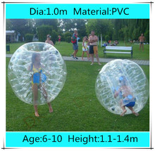 Dia 1.0m PVC Inflatable Bubble Soccer Football Ball for Children,Zorb Ball, inflatable human hamster ball, Bumper Ball for Kids
