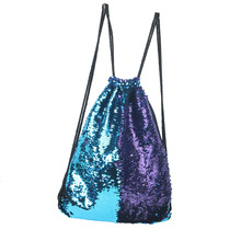 MLITDIS Backpack Women Mermaid Sequin Storage Bag Reversible Color Changing Travel Bag Clothes Luggage Fashion Storage Organizer(China)