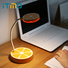 iTimo LED Desk Lamps Cute Orange Shaped Book Reading Light Kids 3 Modes Table Lamp Adjustable Eye Protection USB Rechargeable(China)