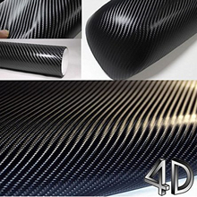 200mmX1520mm Waterproof DIY Car Sticker Car Styling 4D Thicken 3M Car Carbon Fiber Vinyl Wrapping Film Car Accessories Decals(China)