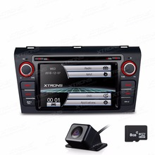 XTRONS 7 inch HD Digital Touch Screen  Car DVD Player GPS Navigaton CANbus For Mazda 3 2004 2005 2006 2007 2008 2009+LED Camera