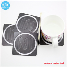 Absorbent paper coaster cheap custom coaster disposable paper coasters /2017 new fashion table mat
