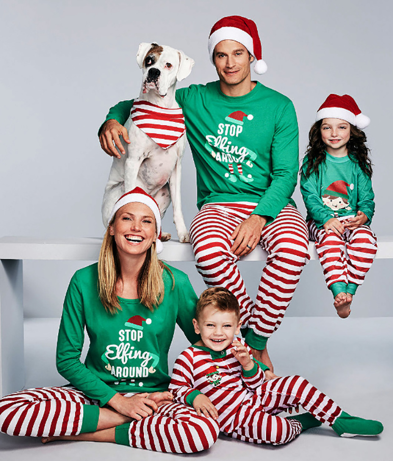 Family Matching Clothes Holiday Pajamas Family Christmas Pajamas 2018 Familylook Mommy and Me Clothes Mother Daughter Dresses