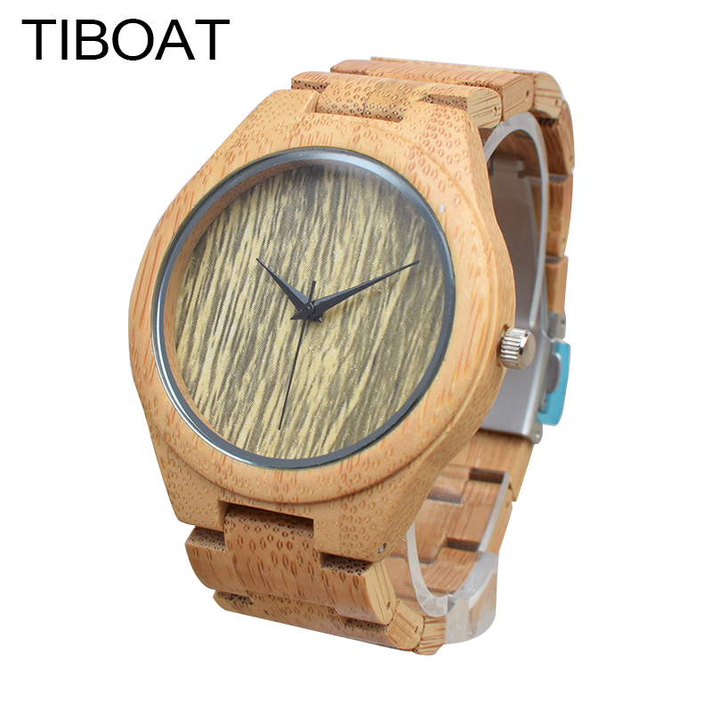 TIBOAT Men Watches Top Brand Luxury Vintage Lightweight Round Bamboo Wood Quartz Watches With Bamboo Bands for Women<br>