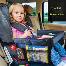 Multifunction Car Tray Table Kids Waterproof Safe Childrens Snack and Play Tray for Car Seat Kids Travel Tray