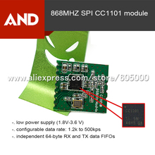 Free shipping 2pcs/lot CC1101 868 MHZ wireless module with spring antenna(China)