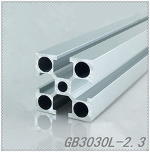 3030 aluminum extrusion profile GB3030L length 100mm wall thickness 2.3mm T slot industrial aluminum profile workbench 1pcs