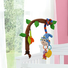 Baby Rabbit Animal Giraffe Crib Bell Hang Rattle Infant Doll Baby Stroller Hanging Wind Chimes  Newborn hanging Rattles toys