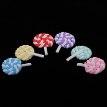 Doll House Set of 6 Pieces Colorful Miniature Lollipop Candy 1:12 Scale Dollhouse for Dolls Accessories Kids Toy Chupet Toy Gift(China)