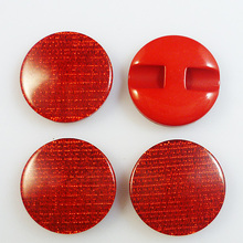 20PCS 21MM Stripe RED Dyed RESIN buttons coat boots sewing clothes accessories R-005