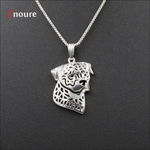 Fashion Jewelry Of Perro De Presa Canari Pendant Necklace Metal Alloy Cute Snake Chian Animal Dog Christmas Necklace Gifts A280(China)