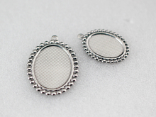 18x25mm Oval Pendant Base , Stainless Steel Blank Pendant Tray, Oval Cabochon Setting, 20pcs/lot