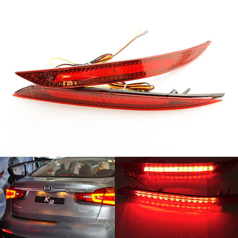 2pcs Auto Parking warning Brake Stop lights rear bumper reflector lamp Tail lamp fog light for Kia K3 Cerato Forte 2012-2014<br><br>Aliexpress