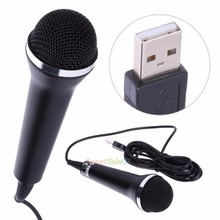 Universal USB Wired Microphone For PS2/PS3/Xbox One/Xbox 360/Wii/Tablet PC New 0322(China)