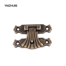 2017 Direct Selling Hot Sale Wood Box 20pcs 37*24mm Daisy Box Buckle Alloy Clasp Classical Antique Wooden Hasp Lock Latches(China)