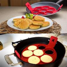Non Stick Flippin Fantastic Pancake Pan Flip Perfect Breakfast Maker Eggs Omelette Flipjack Tools 7 and 4 Grids Pancake Maker(China)