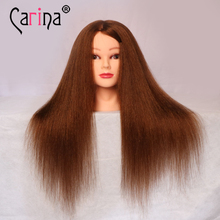 professional hair styling head manikin female dummy Mannequin head Wigs 100% real natural hair mannequin head hairdresser head(China)