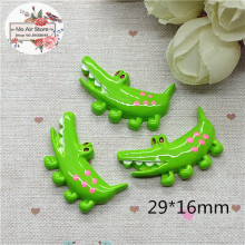 10pcs Resin cute kawaii crocodile flat back Cabochon Art Supply Decoration Charm Craft DIY 29x16mm