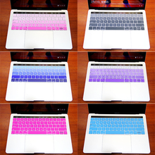 For Apple Macbook Pro 13 A1708 For Mac 12 A1534 Retina Laptop Rainbow Keyboard Stickers US Version Silicone Skin Protector Cover(China)