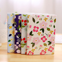 Cute Kawaii Notebook Fresh Floral Travel Journal Diary Planner Notepad Personal Organizer for Kids Gift Korean Stationery School