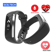 SCELTECH Blood Oxygen Smart Band M2 Smartband Heart Rate Monitor Pedometer Bluetooth Bracelet Inteligente Pulso For iOS Android
