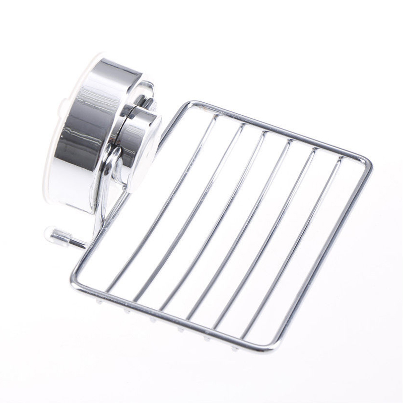 Stainless Steel Bathroom Vacuum Suction Cup Soap Holder Cup Box Dish Soap Storage Saver Shower Tray Bathroom Accessories MAYITR