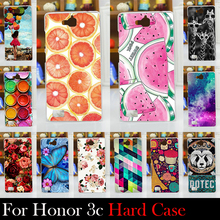 For Huawei Honor 3C 5.0 inch Hard Plastic  / Soft Silicone TPU Mobile Phone Case Cellphone Mask Cover Housing Skin Mask Shell