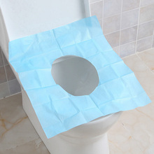 10pcs/lot Disposable Paper Toilet Seat Cover Camping Travel Convenient Hygienic Waterproof Toilet Mat Pad Cushion(China)
