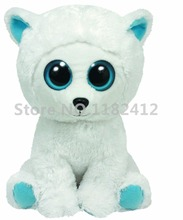 Beanie Tundra the Polar Bear Plush Cute Stuffed Animal Big Eyes 15CM 6'' Soft Toys for Children Baby Kids Gifts