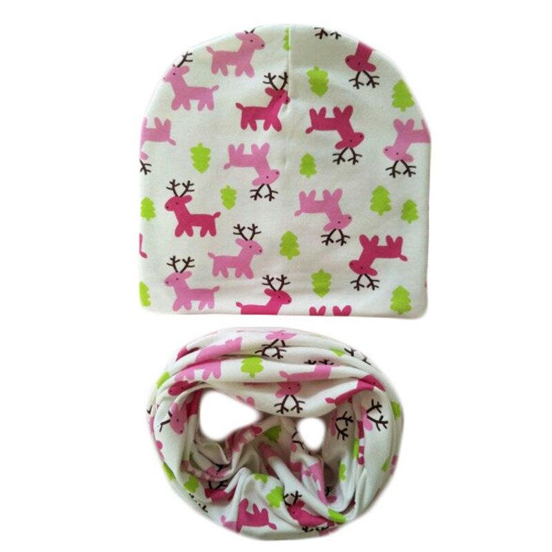 New Cotton Hats Scarf Set Spring Autumn Winter Children Scarf Collar Fashion Casual Boys Beanies Skullies Kids Cap for Girls