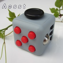 AOSST 11Types Fidget Cube Toys A Vinyl Desk fidget spinner Toys For Boys children Cube Black Green Grey Red Toys puzzle Cube(China)