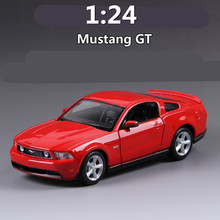 High simulation supercar,1:24 scale alloy 2011 Ford Mustang GT,Collection metal model toys,free shipping